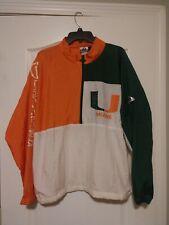 Vintage 90's APEX ONE Varsity University Miami Hurricanes Nylon Jacket - Large