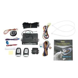 PKE Passive Keyless Entry Car Alarm System With Engine Start Button Remote W9K7