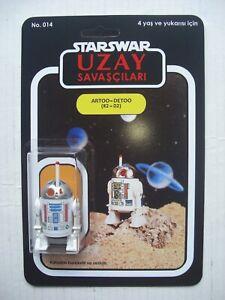 Vintage STAR WARS R2D2 R2-D2 Pop-UP Saber UZAY SAVASCILARI CUSTOM FIGURE & CARD