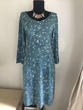 """White Stuff """"Tess' Green Abstract Polka Dot Jersey Dress Size UK 14"""