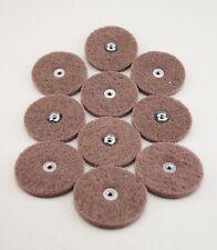"""10 Standard Abrasives Buff Blend Circle Buff GP 724281 3"""" x 1 Ply x 1/4-20 A VF"""