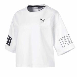 Puma Modern Sport Sweat Tee Womens Casual White T-Shirt 852017 02