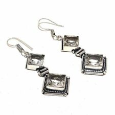 White Topaz Ethnic Jewelry Handmade Earring UE-3885