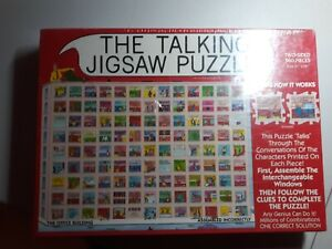 NEW- Double-sided, The Talking 560 Piece Jigsaw Puzzle by Buffalo Games (1991)