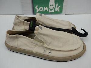 Sanuk Mens Sidewalk Surfers Pick Pocket Washed Natural Size 9