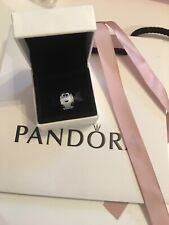Genuine Pandora 925 Silver Murano Glass Heart Melter Charm. 797515. NEW!