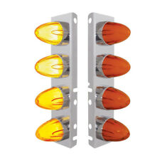 Peterbilt 8 LED Front Air Cleaner Brackets (PAIR) Watermelon Amber/Amber