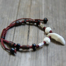 Bracelet Ethno Style a Pearls Brown and Beige Tibetan Silver Bands