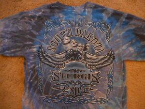 Sturgis SD Mt Rushmore motorcycle biker t-shirt tye dye Large Vintage Gildan