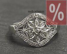 Damen Gold Ring mit Diamanten, 10 Karat Weißgold Diamantring, Diamant Schmuck