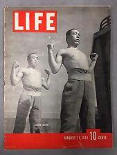 LIFE MAGAZINE JANUARY 11, 1937 JAPANESE SOLDIERS GANGSTER BABYFACE MARTIN SONJA