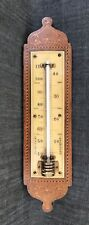 Vintage Inlaid Wall Hanging Room Thermometer