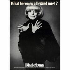 1973 Blackglama: Carol Channing Vintage Print Ad