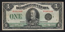 New listing Canada P-33n. 1923 1 Dollar. Campbell/Sellers. Central Portrait. Vf