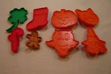 8 PLASTIC COOKIE CUTTERS-1 TUPPERWARE-7 HALLMARK-Holidays-Halloween-Etc.