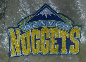 """Denver Nuggets 3.5"""" Iron On Embroidered Patch~USA~FREE Ship"""
