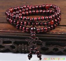 Genuine Sandalwood Prayer Beads Buddha Malas Bracelet Man Women Necklace 1PC Ahy