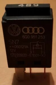 VW/Audi Relais 489 Arbeitsstrom Arbeitskontaktrelais 6Q0951253