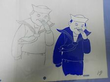 CRACKER JACK Production Pencil Drawing & Hand Painted Animation Cel 3A 19