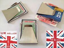 Acero Inoxidable Money Clip De Doble Cara Caja nota de crédito tarjeta titular Delgada