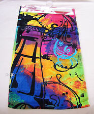 Coca Cola Coke Bottle Ink Splatter Printed Velour Beach Towel 75x150cm New