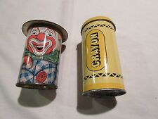 Tins, Crayon Tin And Clown Tin, Mixed Lot of 2 , Vintage