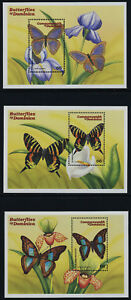 Dominica 2199-2201 MNH Butterflies, Flowers