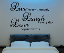 Live Love Laugh Inspirational Quote Living Room Bedroom Wall Vinyl Decor Sticker
