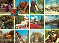 "CEDAR POINT AMUSEMENT PARK Multi View Roller Coasters Ride 5 7/8""x8.25"" postcard"