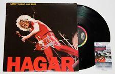 SAMMY HAGAR SIGNED LIVE 1980 LP VINYL RECORD ALBUM VAN HALEN AUTOGRAPHED JSA COA