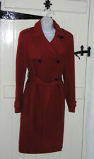 TOMMY HILFIGER WOOL / CASHMERE COAT SIZE L BURNT ORANGE TRENCH STYLE COST £245
