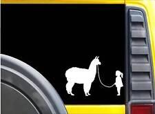 Girl Walking Alpaca Sticker k627 8 inch Kria decal