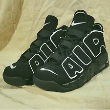 Size 10 Used Nike Air More Uptempo Mens Pippen Black White Basketball