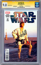 STAR WARS #1 CGC-SS 9.8 *SIGNED MARK HAMILL* ORIG 1977 MOVIE ACTOR FOTO CVR 2015