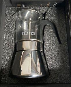 Moka Pot - Rumia Stovetop Espresso Maker Crystal Glass & Stainless Steel Moka...
