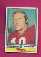 1974 TOPPS # 19 SAN FRANCISCO KEN WILLARD NRMT-MT  CARD (INV# A6329)
