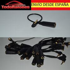 Cable ADAPTADOR de audio adaptator MINIJACK MALE 2,5 mm JACK FEMALE 3,5 mm