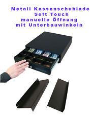 NEUE Vollstahl Kassenschublade manuelle Öffnung Touch mit Unterbauwinkel