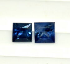 Certified Natural Sapphire Square Cut Pair 2.50 mm 0.28 Cts Blue Loose Gemstones