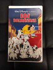 101 Dalmatians Motion Picture VHS 1961 Disney Black Diamond Version Family