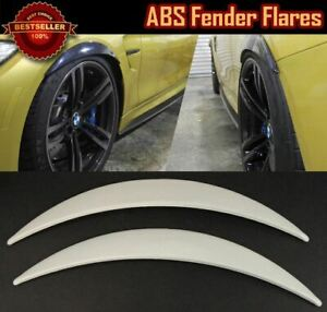 """Pair Of ABS Painted White 1"""" Diffuser Wide Fender Flares Extension Trim For BMW"""