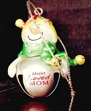 """Ganz """" PERSONALIZED """" Jinglebell Snow Buddies - MOST LOVED MOM"""
