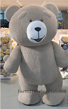 Inflatable Teddy Bear Plush Mascot Costume cos Party Game Xmas Fandy Dress gifts