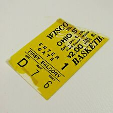 Wisconsin Badgers vs Ohio State Ticket Stub 1964 Basketball Game Field House