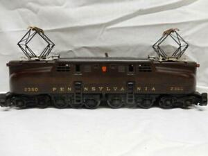 POSTWAR LIONEL 2360 PRR 5 STRIPE TUSCAN BROWN GG1, C-7 EX, RUNS GREAT, NO RSV!