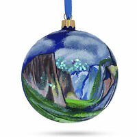 Yosemite National Park, California Sierra Nevada Glass Christmas Ornament 4