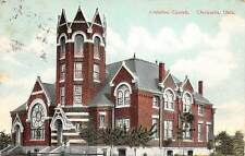 B54/ Chickasha Oklahoma Ok Postcard 1910 Christian Church Building