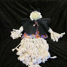 Handcrafted Halloween Folk Witch Decor