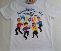 """THE WIGGLES """"5th Wiggle"""" Boy Girl Licensed short sleeve tee t shirt top sz 1-4"""