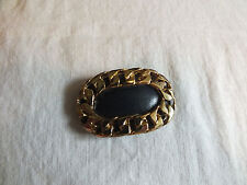 Collectible Gold Tone Shoe Clip Black ONLY ONE 2 x 1 1/4 Inch UNIQUE